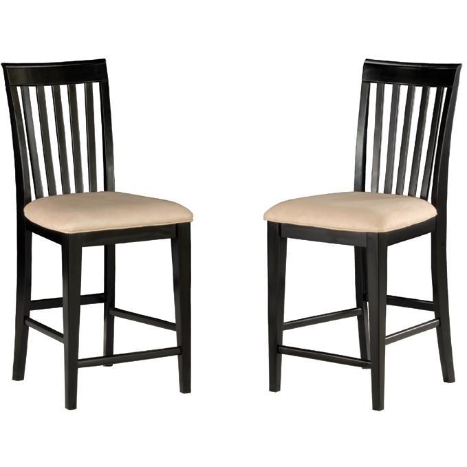 Atlantic Furniture 7002120 Mission Pub Chairs Espresso W/ Oatmeal Cushion (Set Of 2 Chairs)