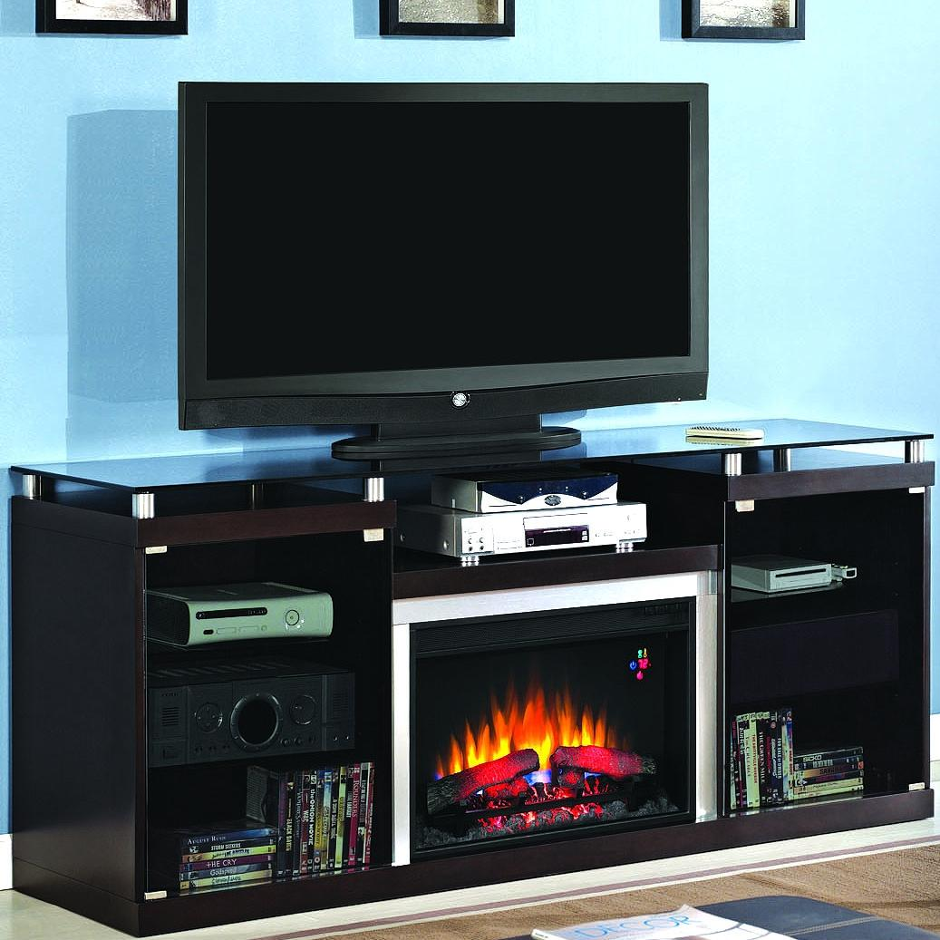 Picture of Albright 72-Inch Electric Fireplace Media Console - Espresso - 26MM9404