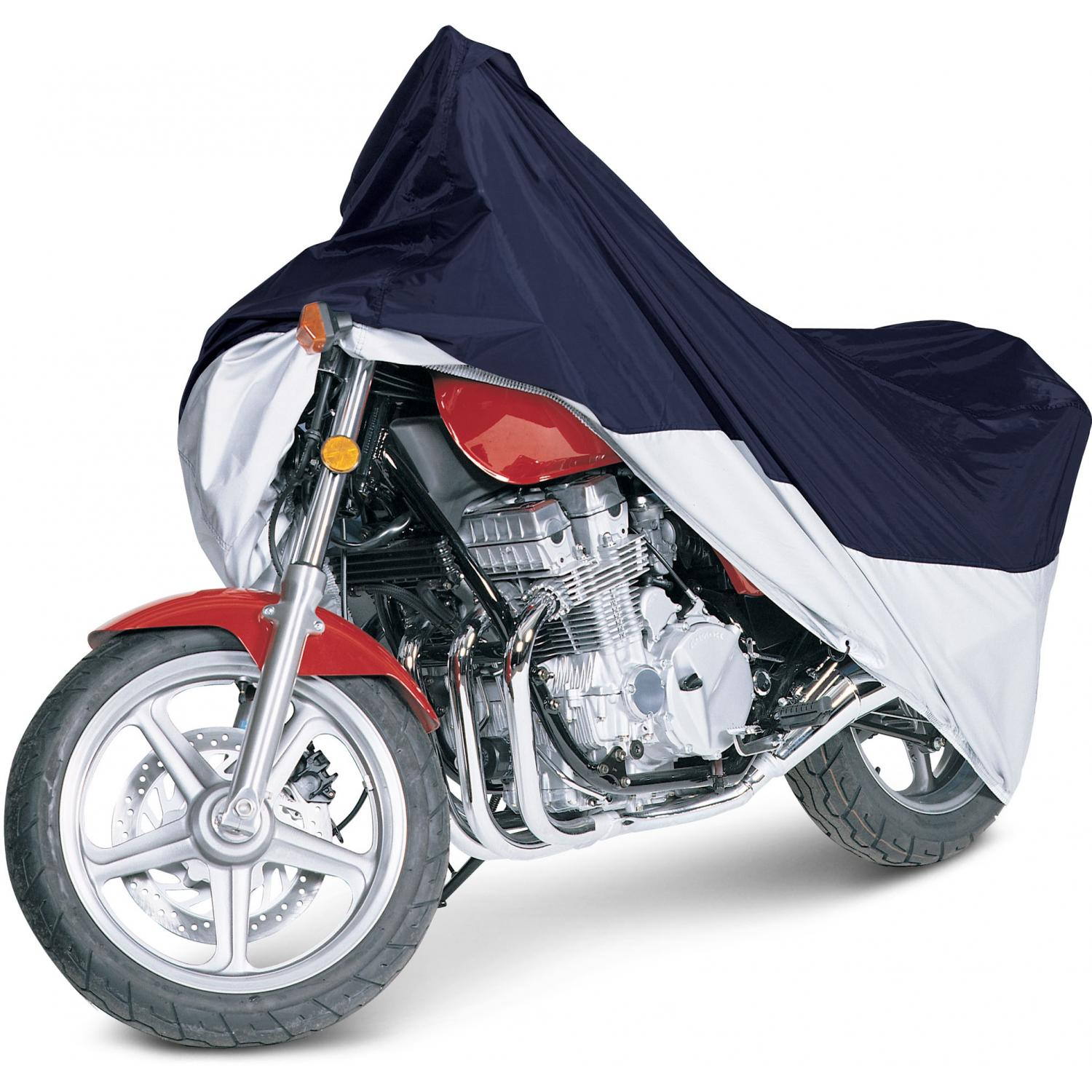 Classic Accessories MotoGear Motorcycle Cover - Blue/Silver - Large