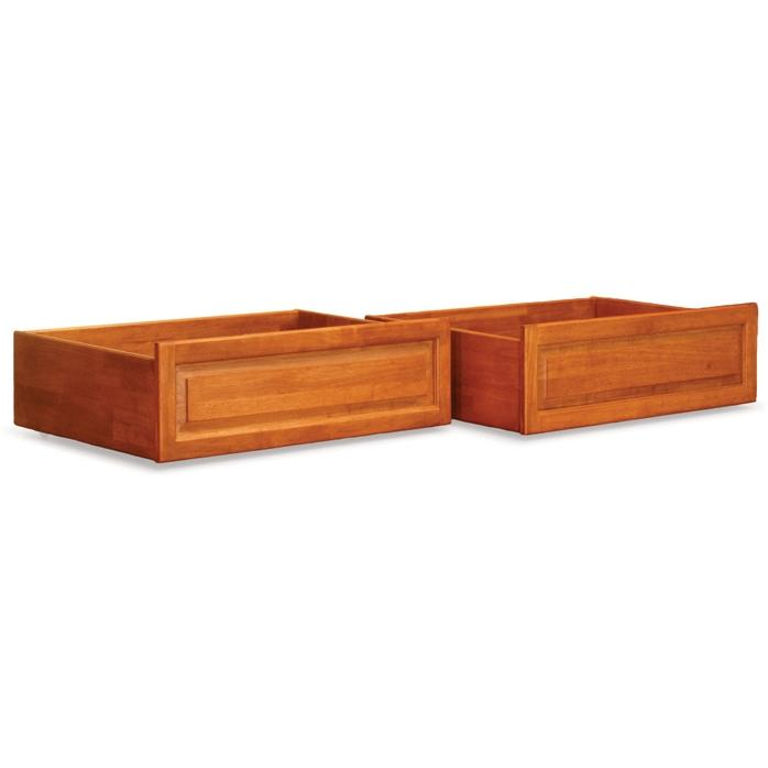 Atlantic Furniture 66007 Raised Panel Bed Drawer Queen Bed/King Bed Caramel Latte