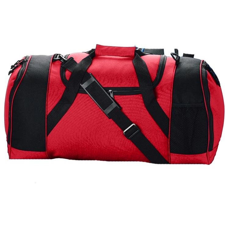 Augusta Duffel Bag With Ball Pocket - Red