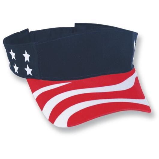 Cobra Caps American Flag Visor