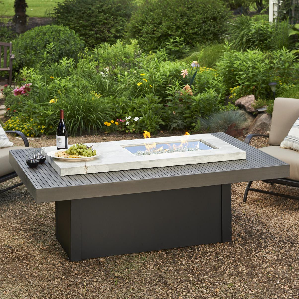 Outdoor GreatRoom Boardwalk 72-Inch Linear Propane Gas Fi. - Gas Fire Pit Crystals Fireplaces Compare Prices At Nextag