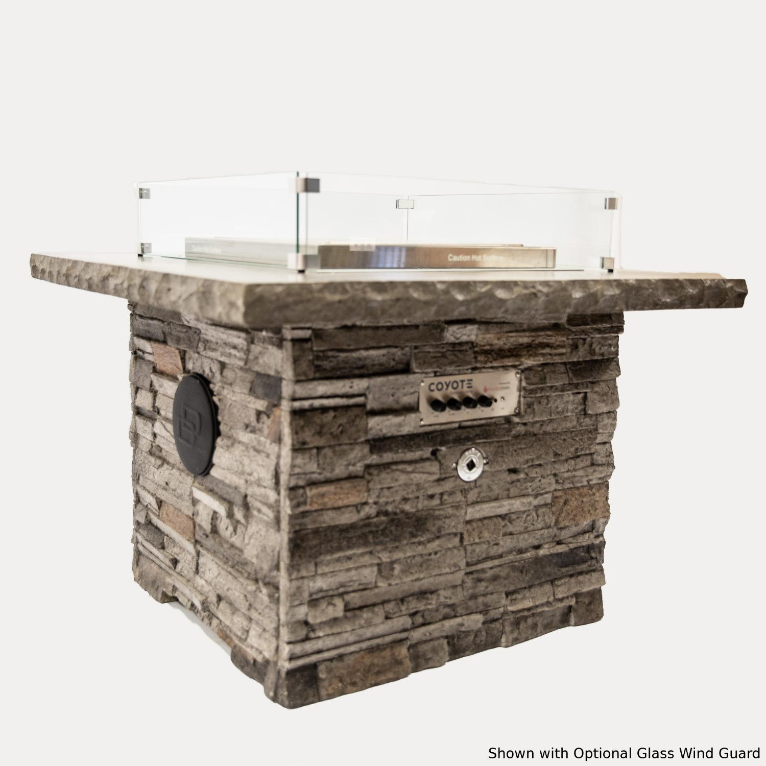 Blazing Beats Dancing Flame 38 Fire Table W/ Bluetooth Audio - Graycastle - Natural Gas - COY-GRAY-BB-NG