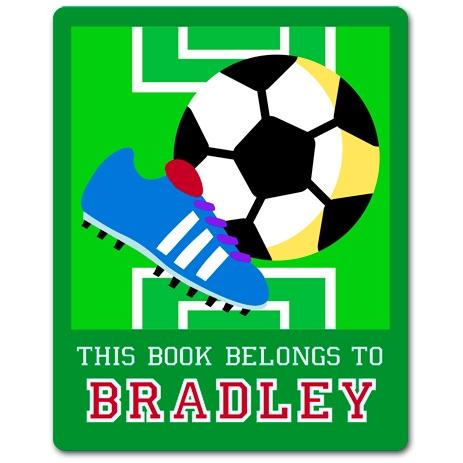 Olive Kids Personalized Book Plate - Game On Soccer