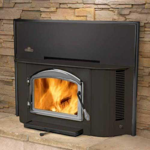 Napoleon EPI1402P Deluxe 25-Inch Wood Burning Fireplace Insert - Black