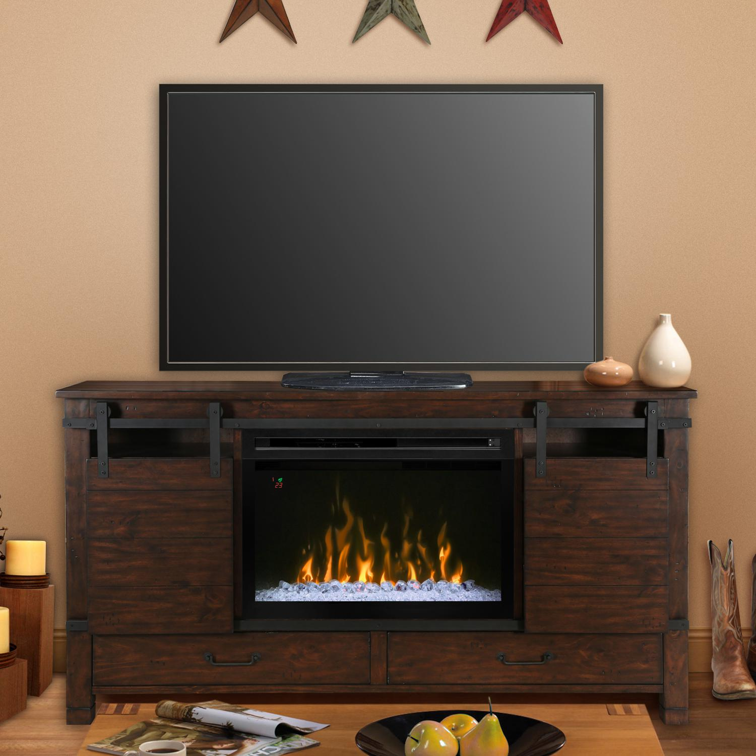 Dimplex Multi-Fire XD Austin 76-Inch Electric Fireplace M...