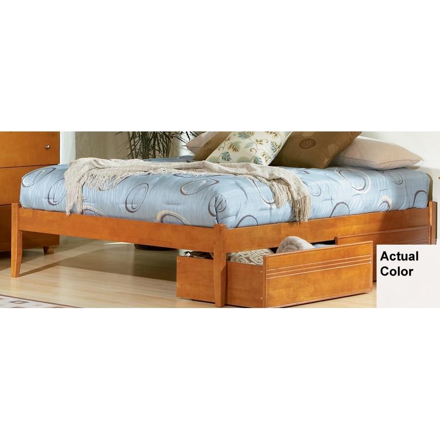 Atlantic Furniture 1002200 Concord Twin Bed Open Foot Rail - White