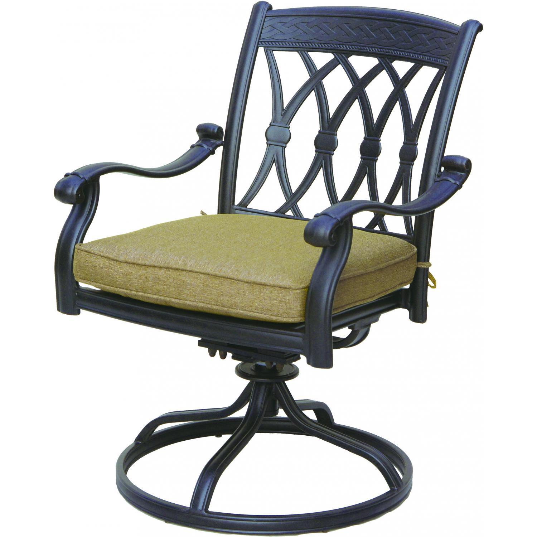 Darlee San Marcos Cast Aluminum Patio Swivel Rocker Dining Chair - Antique Bronze at Sears.com