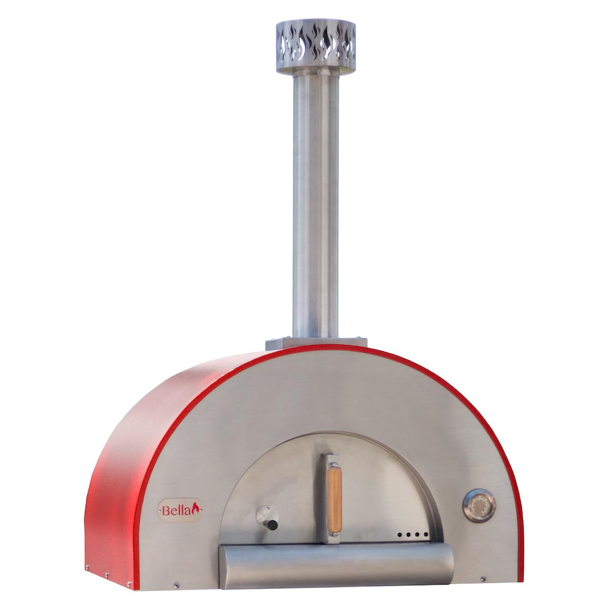 """Bella Outdoor Living Bella Medio 28"""" Outdoor Wood Fired Pizza Oven - Red - Bemd28r"""