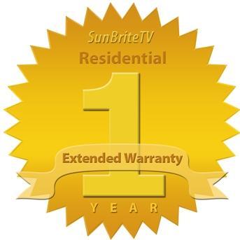 SunBriteTV 1 Year Residential Extended Warranty For 32-Inch LCD TV - SB-EW32-3Y