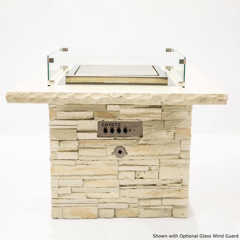 Blazing Beats Dancing Flame 38 Fire Table W/ Bluetooth Audio - Gala - Natural Gas - COY-GALA-BB-NG