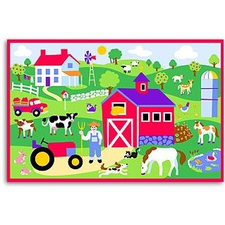 Olive Kids Laminate Placemat - Country Farm