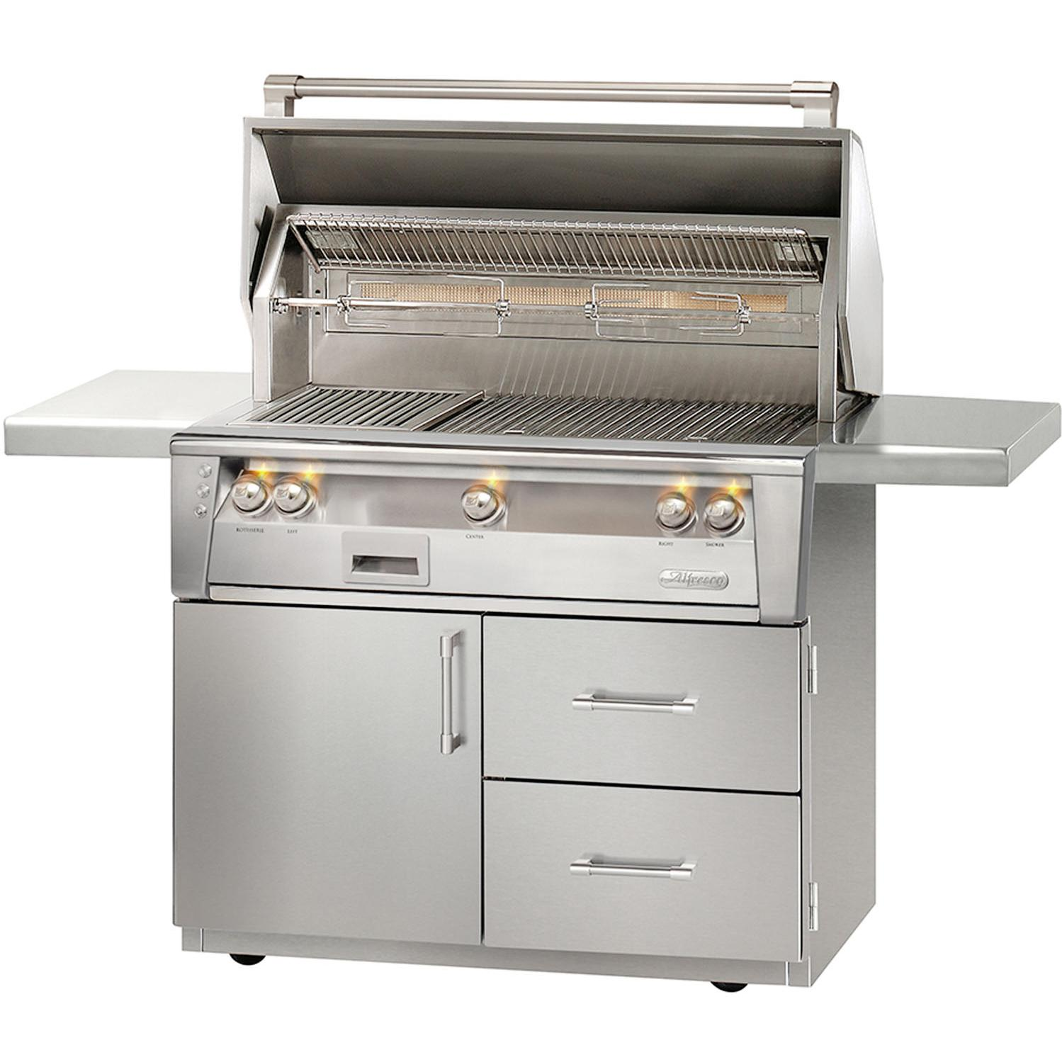 Alfresco LXE 42-Inch Propane Gas Grill On Deluxe Cart With Sear Zone And Rotisserie - ALXE-42SZCD-LP 2911906