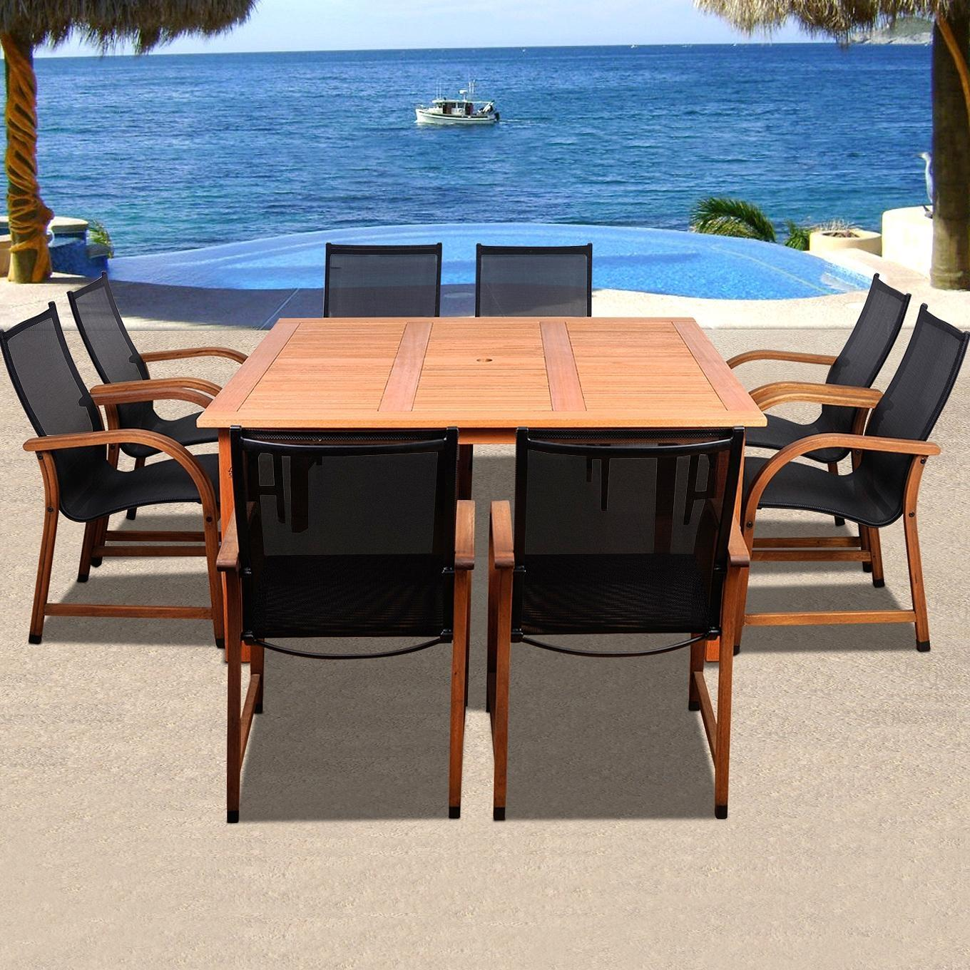 sling patio dining set with stacking chairs discount id sc 426 8manha