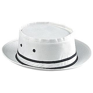 Otto Cap Cotton Twill Fisherman Hat S/M - White/Black