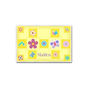 Olive Kids Personalized Laminate Placemat - Flowerland