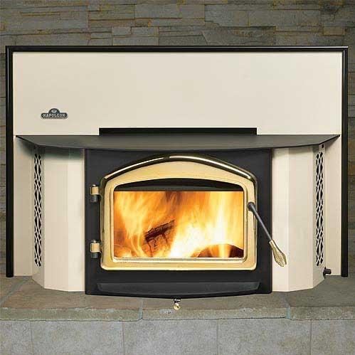 Napoleon EPI1402S Deluxe 25-Inch Wood Burning Fireplace Insert - Almond
