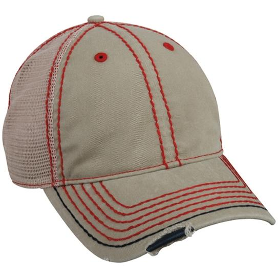 Outdoor Cap Heavy Construction Stitch Cap Khaki