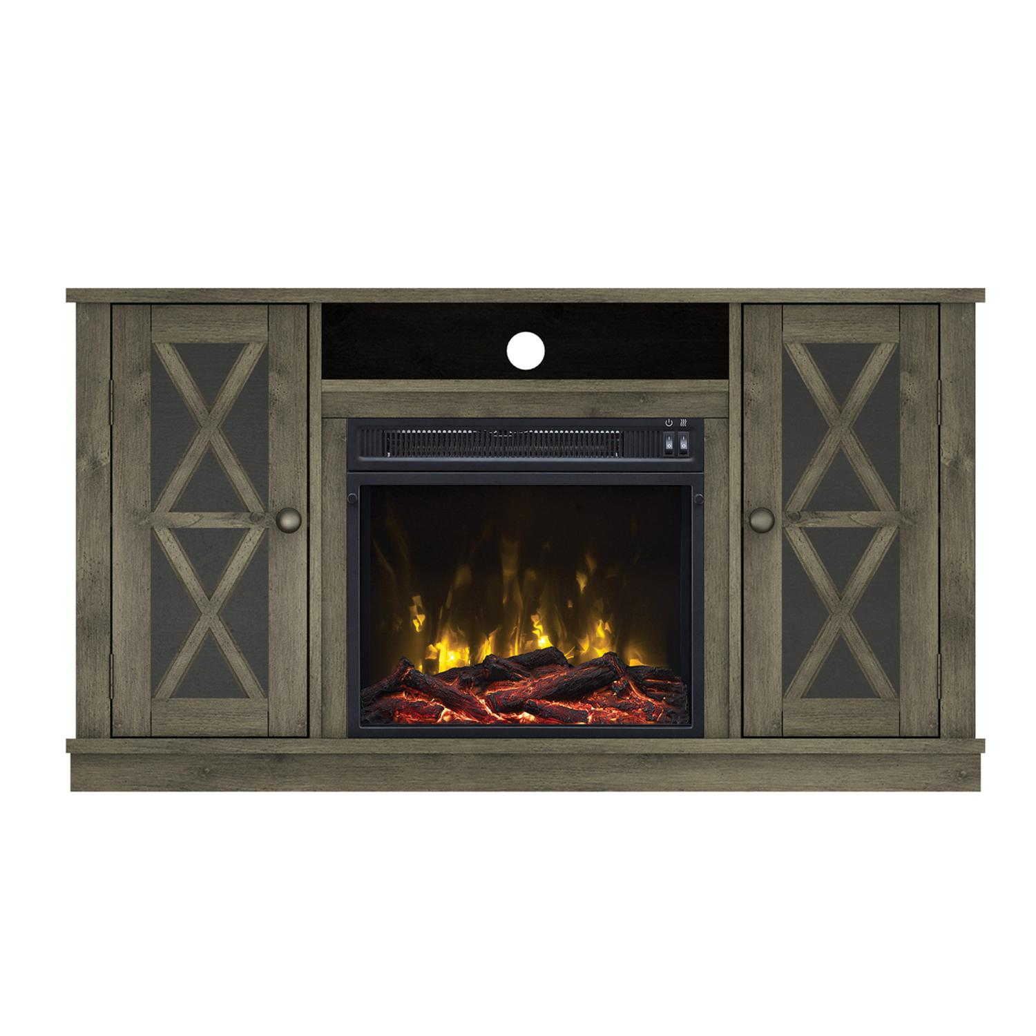 "Classicflame Bayport 47 1/2"" Tv Stand With Electric Fireplace - Spanish Gray - 18mm6092-pi14s"