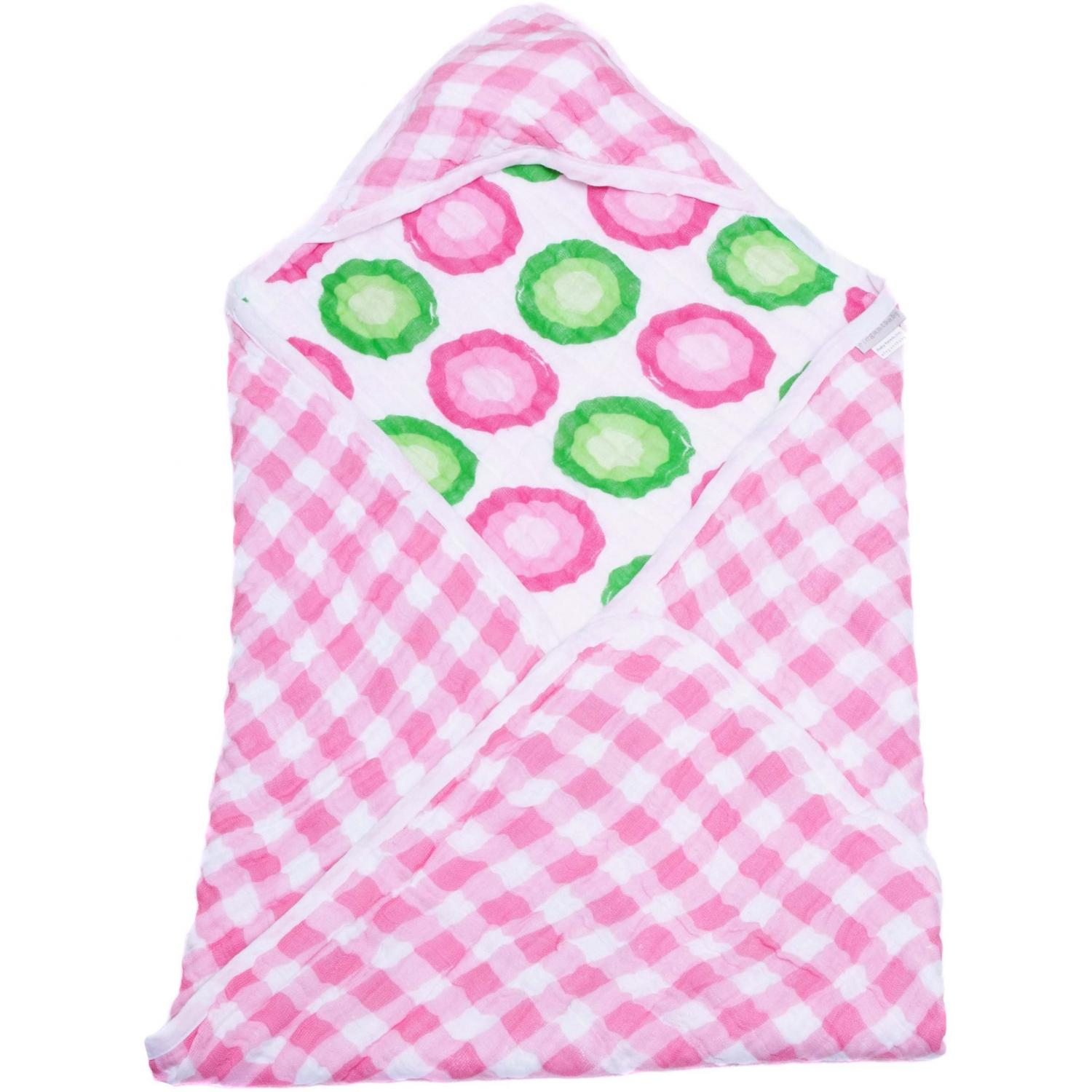Elegant Baby Swaddle Collection Hooded Towel - Pink