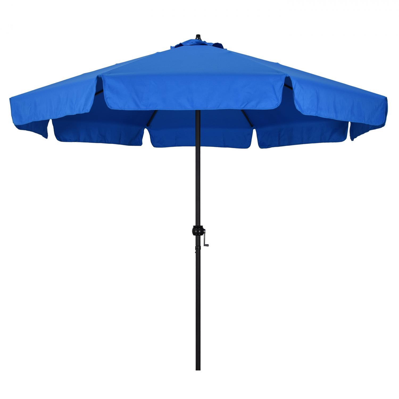 Astella 9 Ft. Aluminum Push Tilt Patio Umbrella W/ Crank Lift And Valence - Black Frame / Polyester Pacific Blue Canopy - Eco908709-p5-08ts-1v