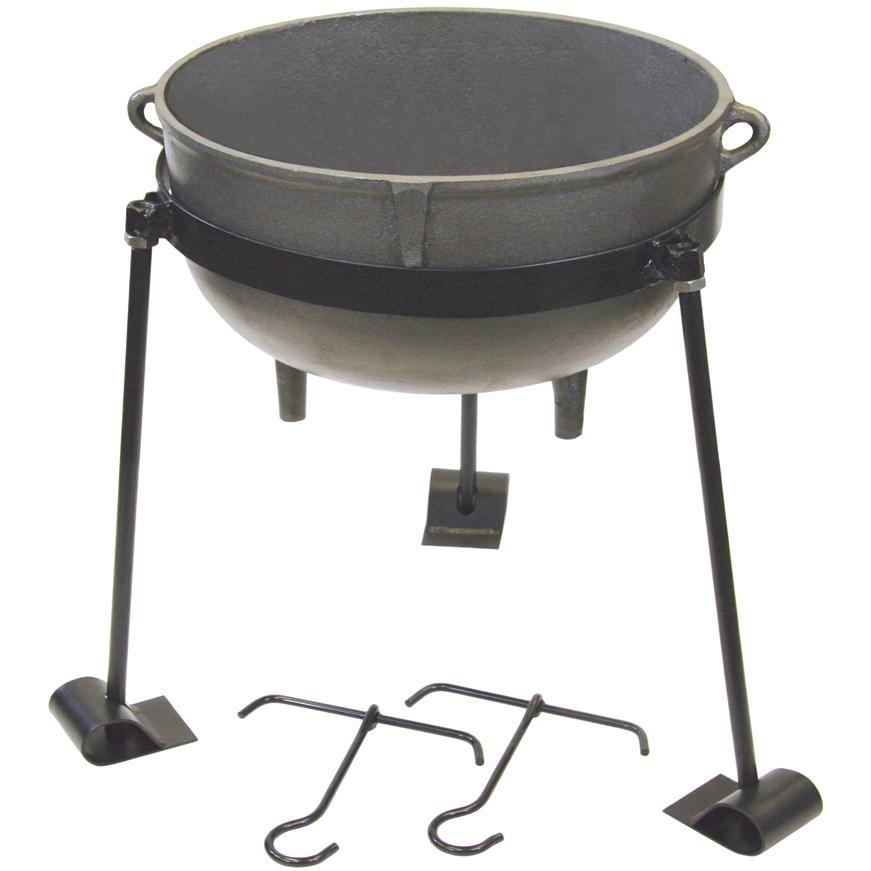 Bayou Classic Pots 30 Gallon Cast Iron Jambalaya Pot & Stand