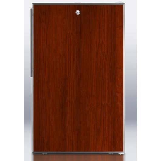 Summit FS407LBIFR 2.8 Cu. Ft. Capacity Built-In Or Freestanding Compact Freezer - Custom Overlay Integrated Door / White Cabinet