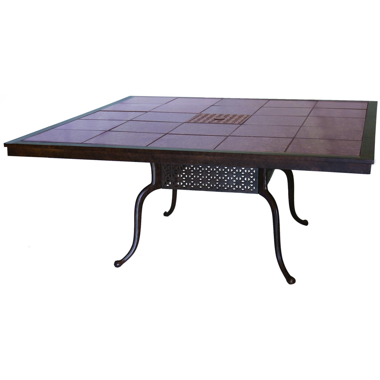 Darlee Series 77 Cast Aluminum Patio Dining Table With Granite Top - Mocha / Ruby Granite Tile at Sears.com
