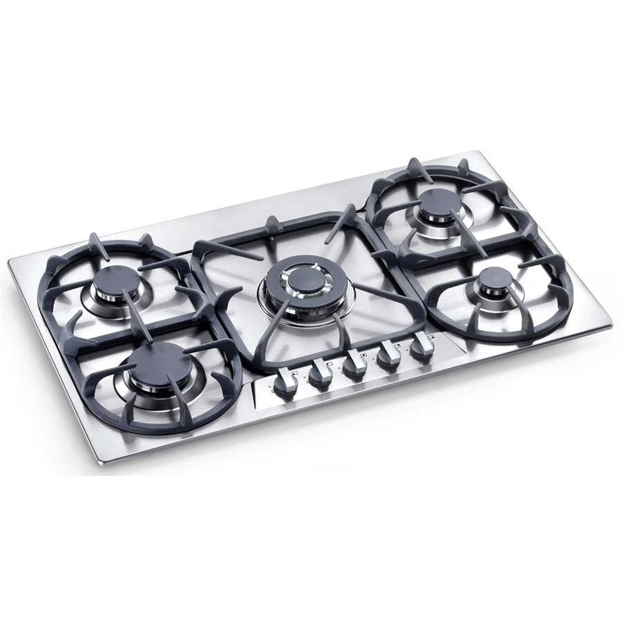 Bertazzoni Cooktops 34 Inch Natural Gas Stainless Steel Cooktop P34500X - Modular Series