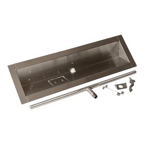 HPC 24-Inch Stainless Steel Propane Gas Trough Burner - Match Light