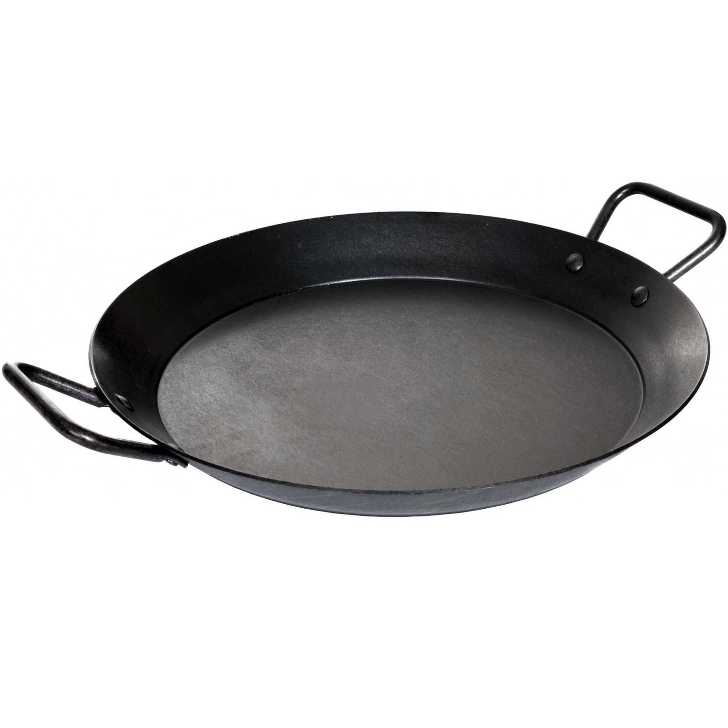 Lodge 15-Inch Seasoned Carbon Steel Skillet & Paella Pan - CRS15