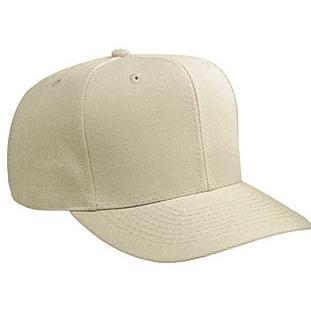Otto Cap Wool Blend Solid Color Pro-Style Sport Cap - Khaki, Discount ID 27-210-032