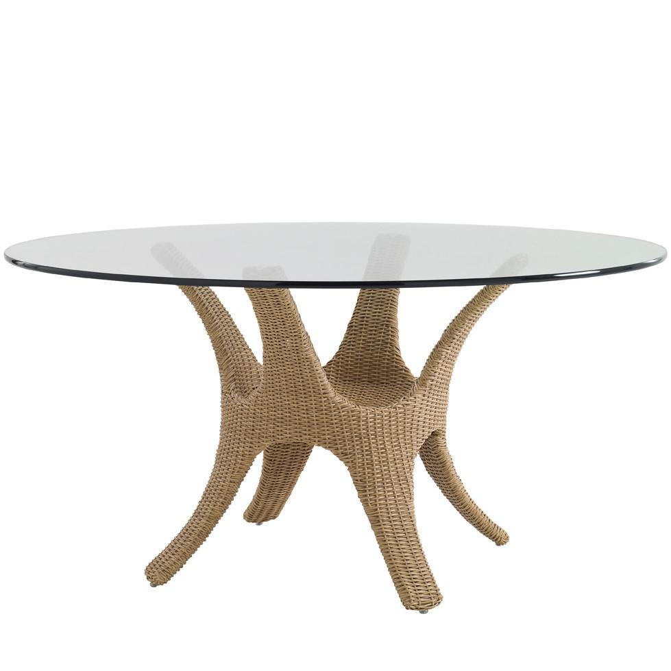 Tommy Bahama Aviano Wicker Patio 60 Inch Dining Table W/ ...