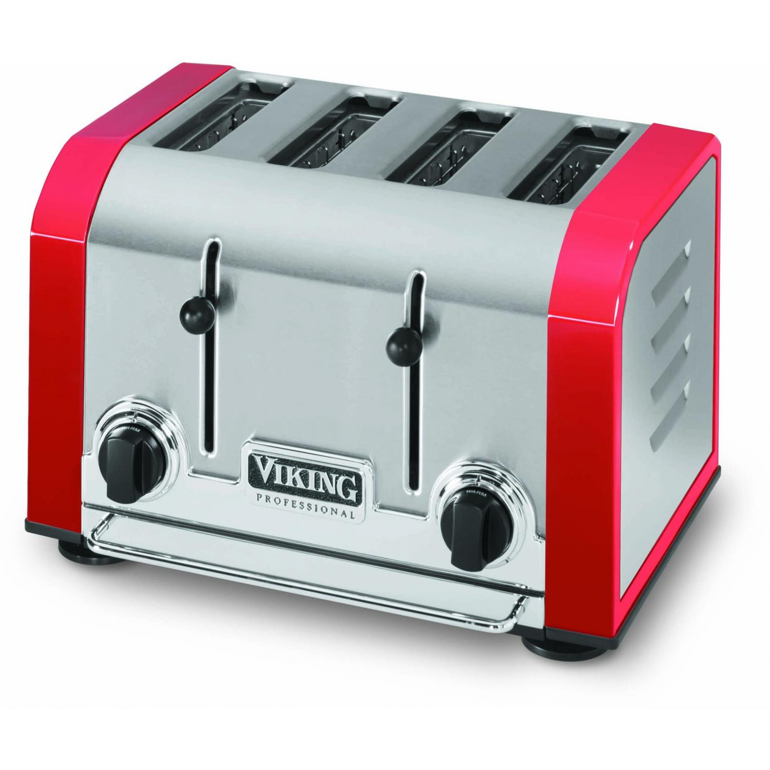 Viking VT401BR Professional 4-Slot Toaster - Bright Red