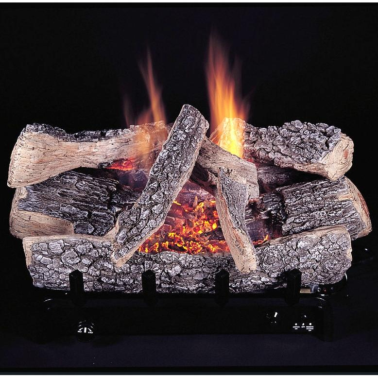 Rasmussen 30 Inch Chillbuster Gas Log Set With Vent Free Propane Evening Embers Triple Burner - Variable Flame Remote at Sears.com