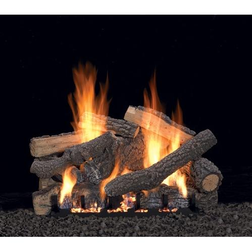 Picture of Empire 18 Inch Ponderosa Gas Log Set With Vented Propane Slope Glaze Burner - Manual Safety Pilot