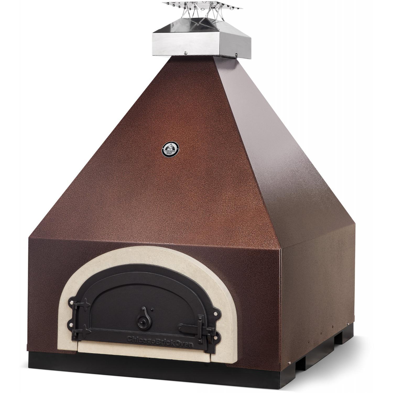 Chicago Brick Oven Cbo-750 Pyramid Countertop Wood Fired Pizza Oven - Copper