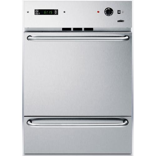 Summit TEM721DKSS Electric Wall Oven With Digital Clock And Timer - Stainless Steel