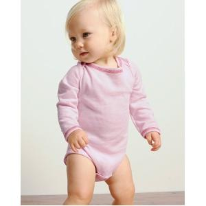 Bella Baby Infant Long Sleeve Thermal One-piece Bodysuit 3-6 Month - Soft Pink/raspberry