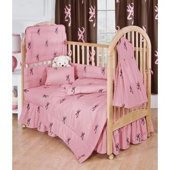 Browning Buckmark Pink Crib Sheet Set