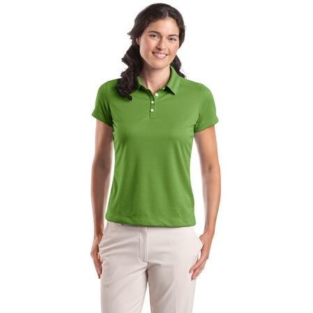 Nike Golf Ladies Dri-FIT Pebble Texture Polo Shirt Small - Chlorophyll