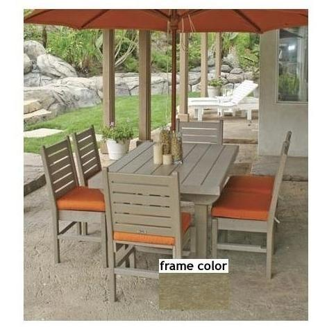 Eagle One Recycled Plastic Cape Cod 60 Inch Patio Dining Set - Driftwood