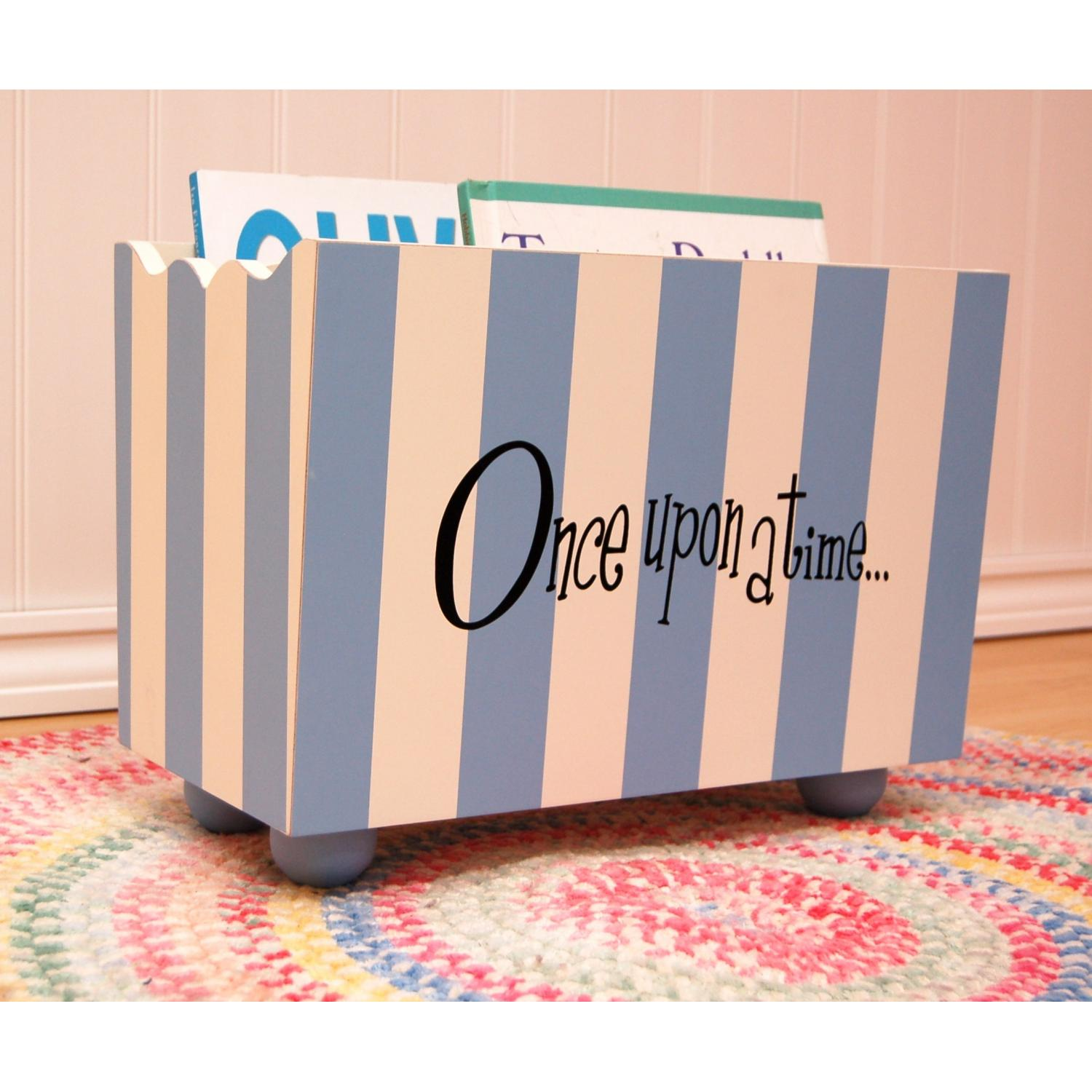 New Arrivals Wooden Bookholder - Blue Stripe