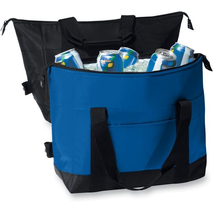 Augusta 12-Pack Two-Color Expandable Cooler - Royal