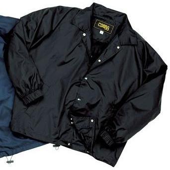 Cobra Caps Nylon Coach Windbreaker Jacket Large - Black