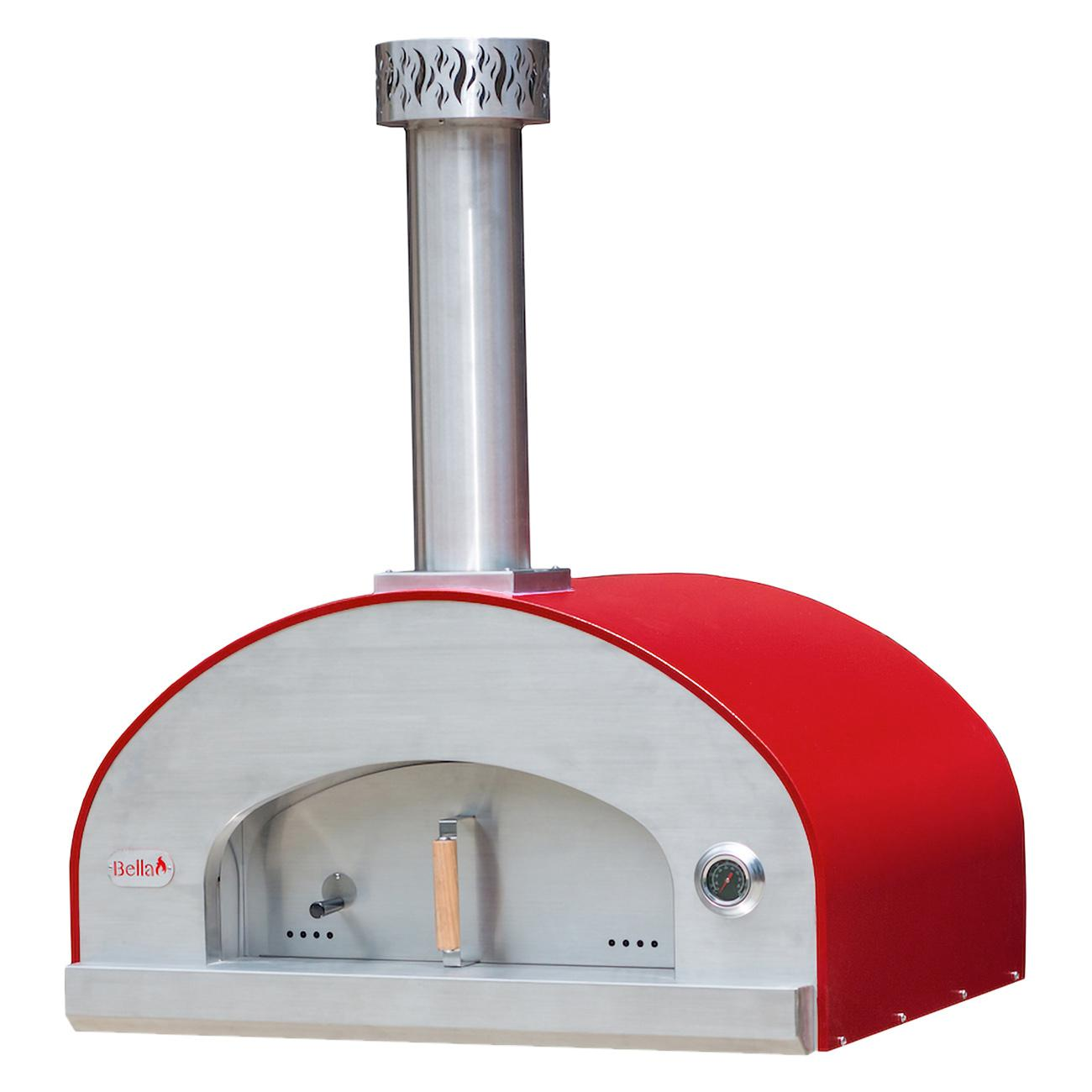 "Bella Outdoor Living Bella Grande 36"" Outdoor Wood Fired Pizza Oven - Red - Begd36r"