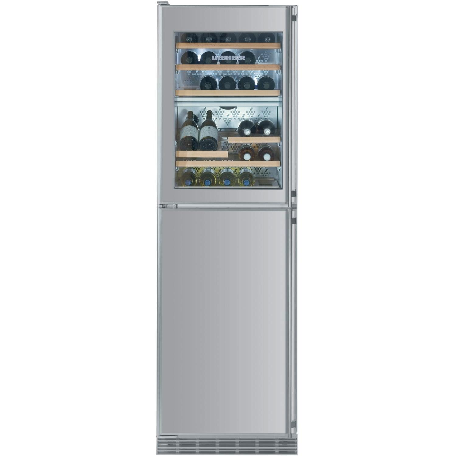 Liebherr WF-1061 34 Bottle Built-In Wine Cooler / Freezer With Ice Maker - Stainless Steel