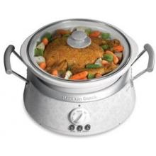 Hamilton Beach 3 In 1 Slow Cooker, White Bowls