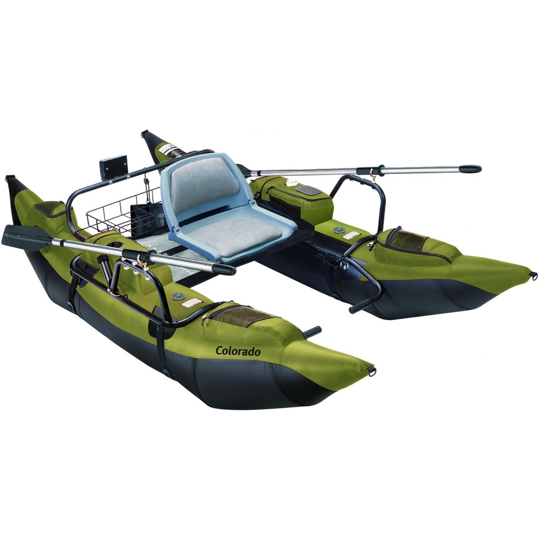 The Colorado Pontoon Boat W/ Anchor (sage)